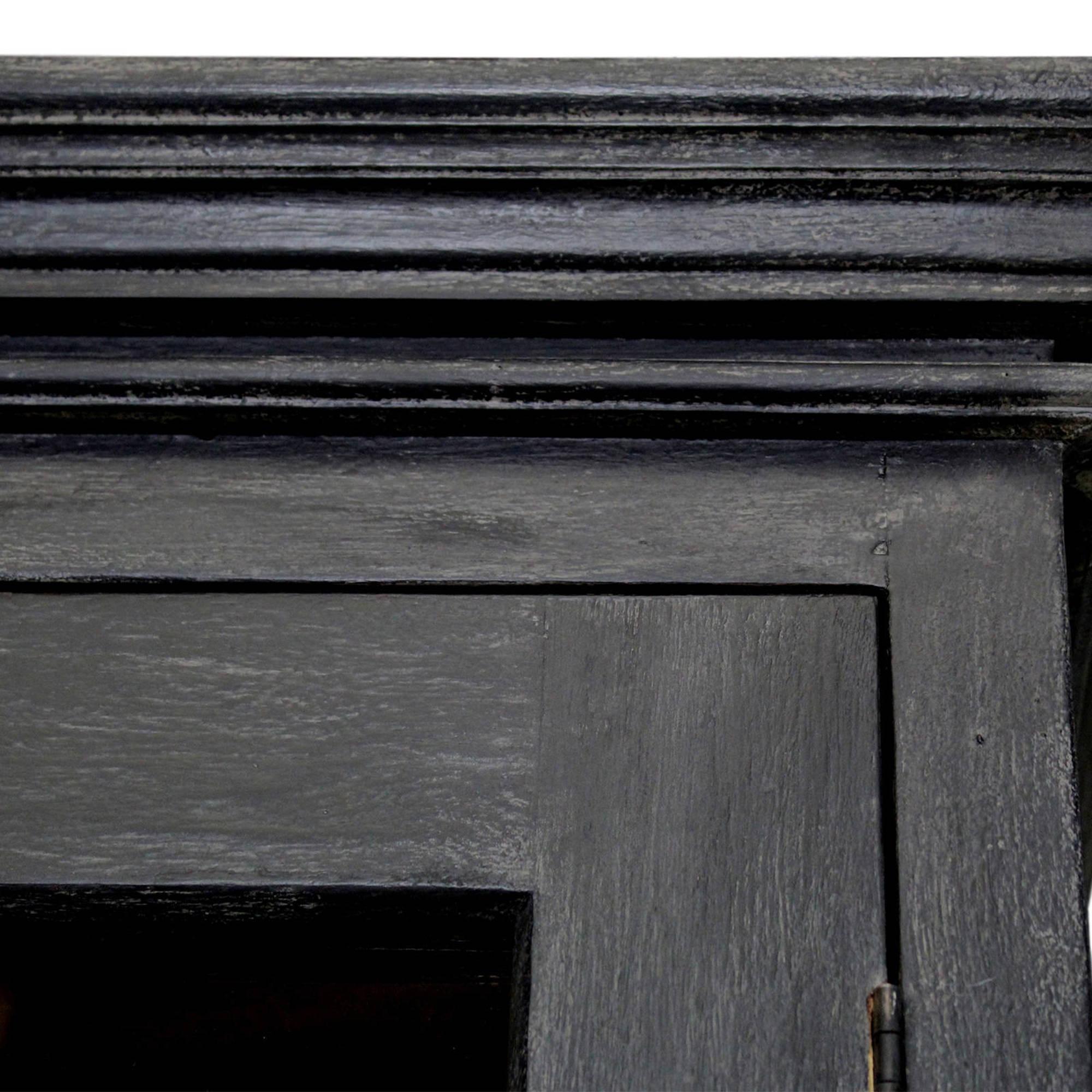 Vitrinekast Durham - worn black/vintage