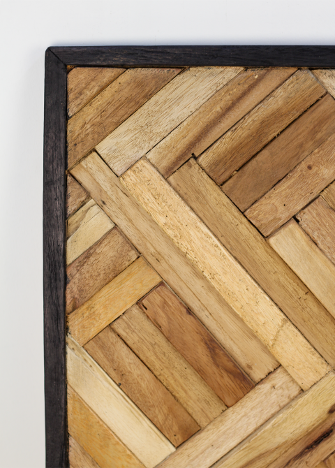 Betere Wanddecoratie - 60x60 cm - gerecycled hout - Wanddecoratie WB-55