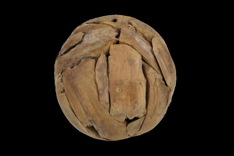 Decoratieve bal - ø30 cm - teak