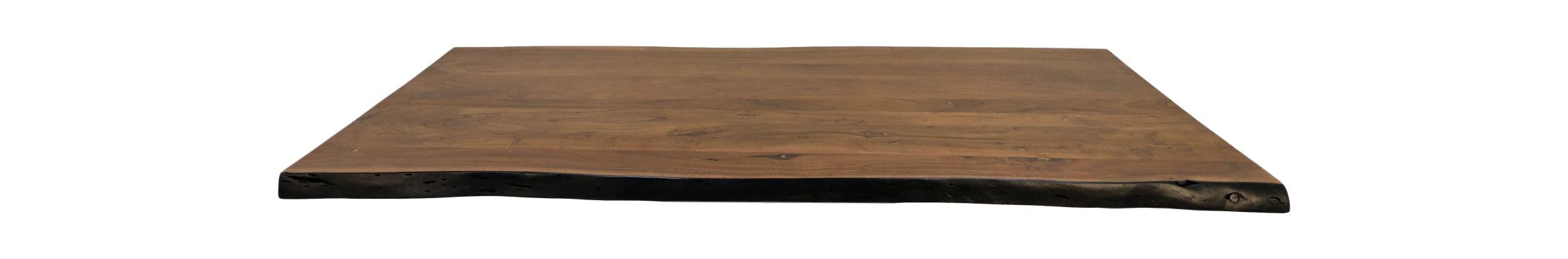 Tafelblad live edge - 200x100x5 - Walnoot bruin - Acaciahout
