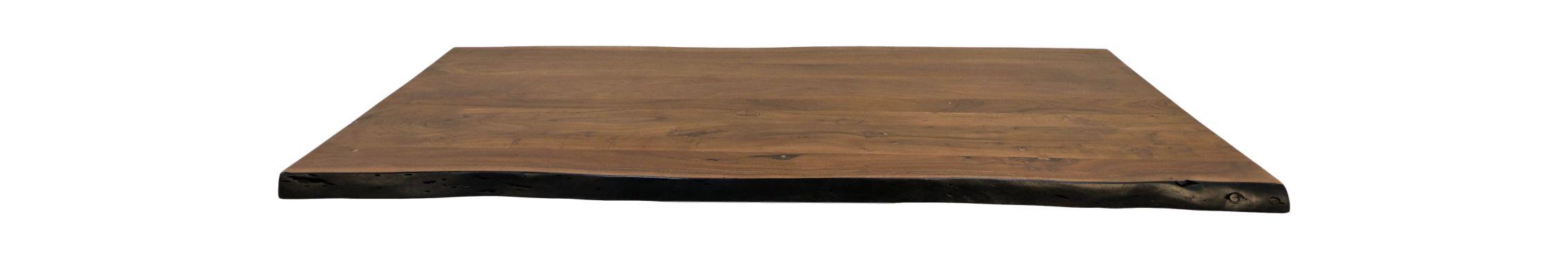 Tafelblad live edge - 220x100x5 - Walnoot bruin - Acaciahout