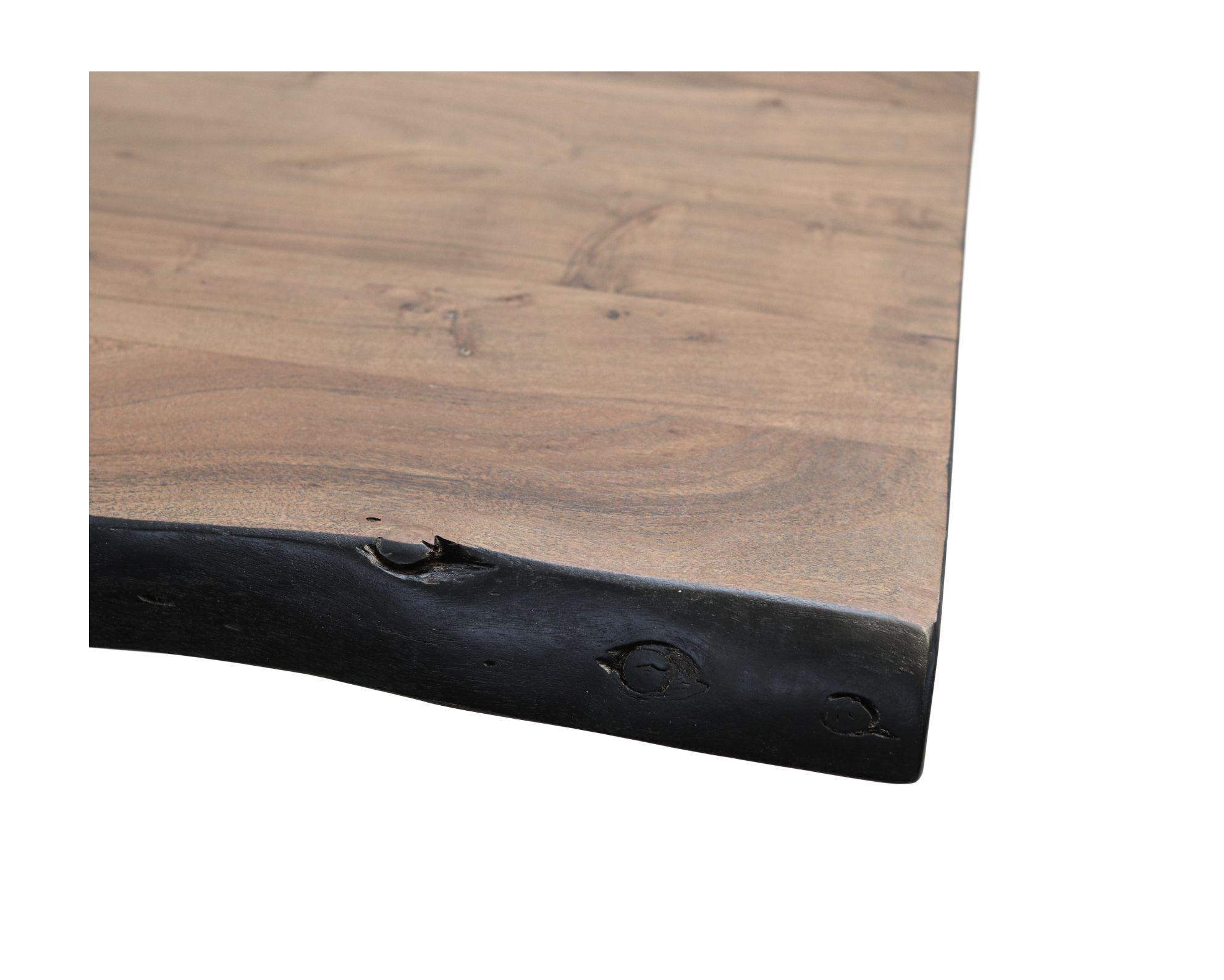 Tafelblad live edge - 240x100x5 - Walnoot bruin - Acaciahout