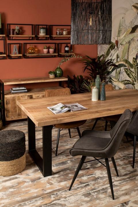 Rechthoekig tafelblad Portland - 240x100 cm - mangohout