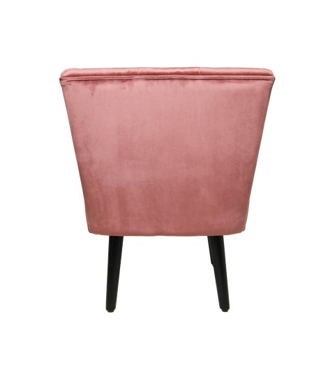 Cocktail chair Estelle - velours - champagne