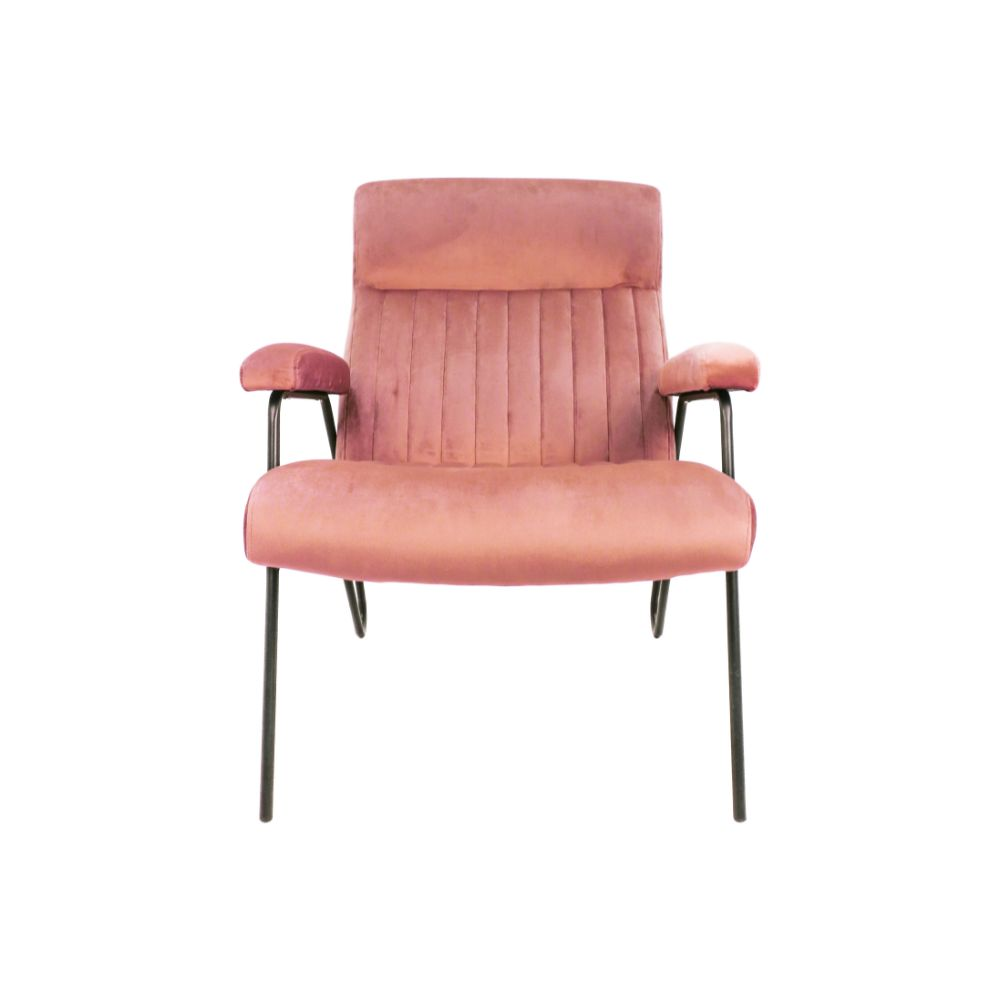 Fauteuil Chicago - velours/metaal - champagne