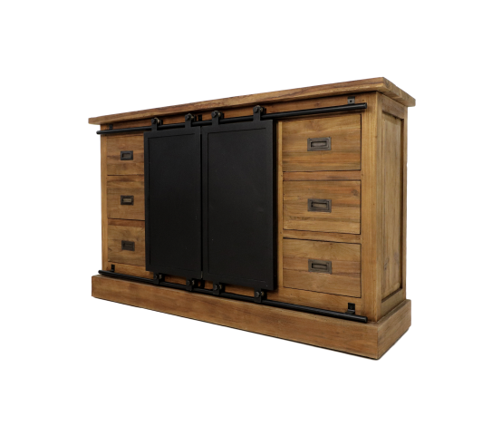 Dressoir Blackburn - reclaimed teak/ijzer