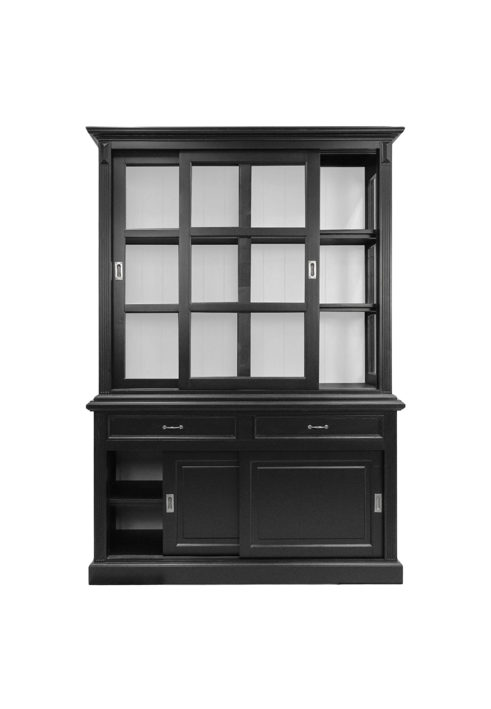 Buffetkast Venice - 150 cm - zwart/wit