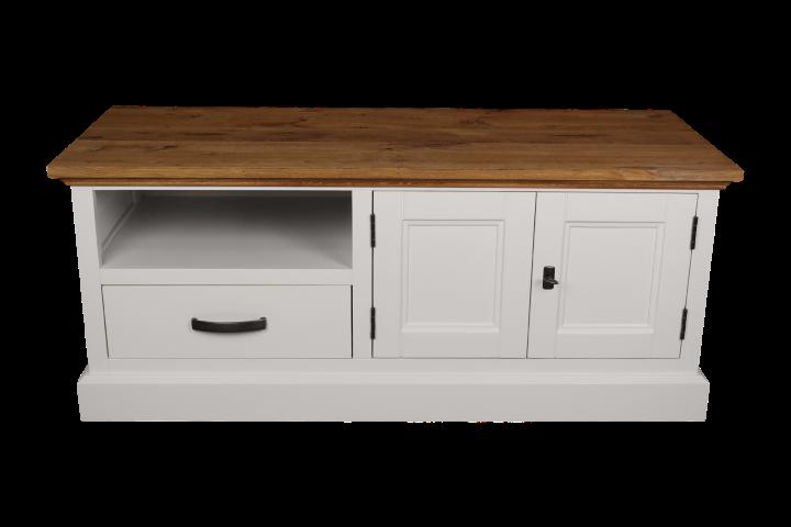 TV-dressoir Provence - naturel eiken/wit