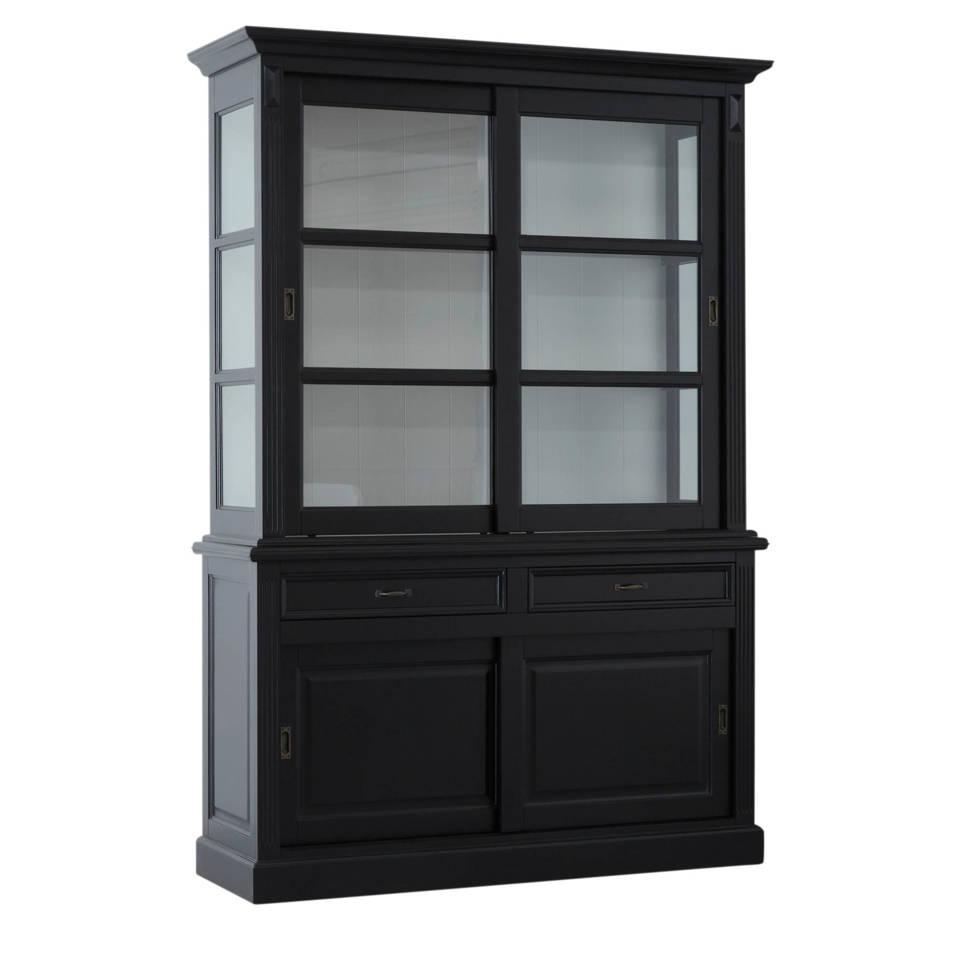 Buffetkast Provence - 150 cm - zwart/wit