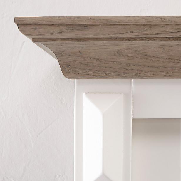 Buffetkast Provence - 150 cm - wit/grijs eiken