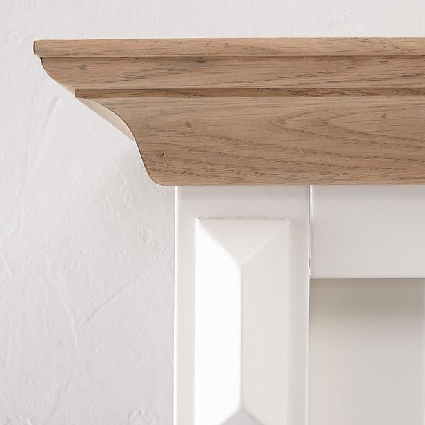 Buffetkast Provence - 150 cm - wit/naturel eiken