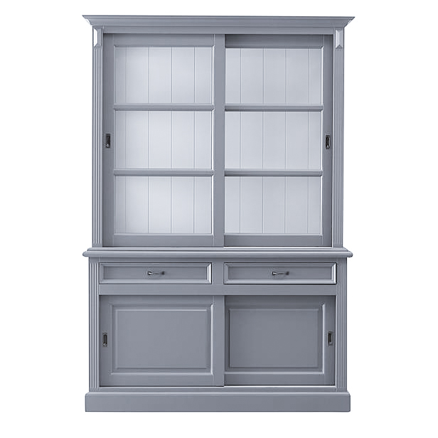 Buffetkast Provence - 150 cm - grijs/wit