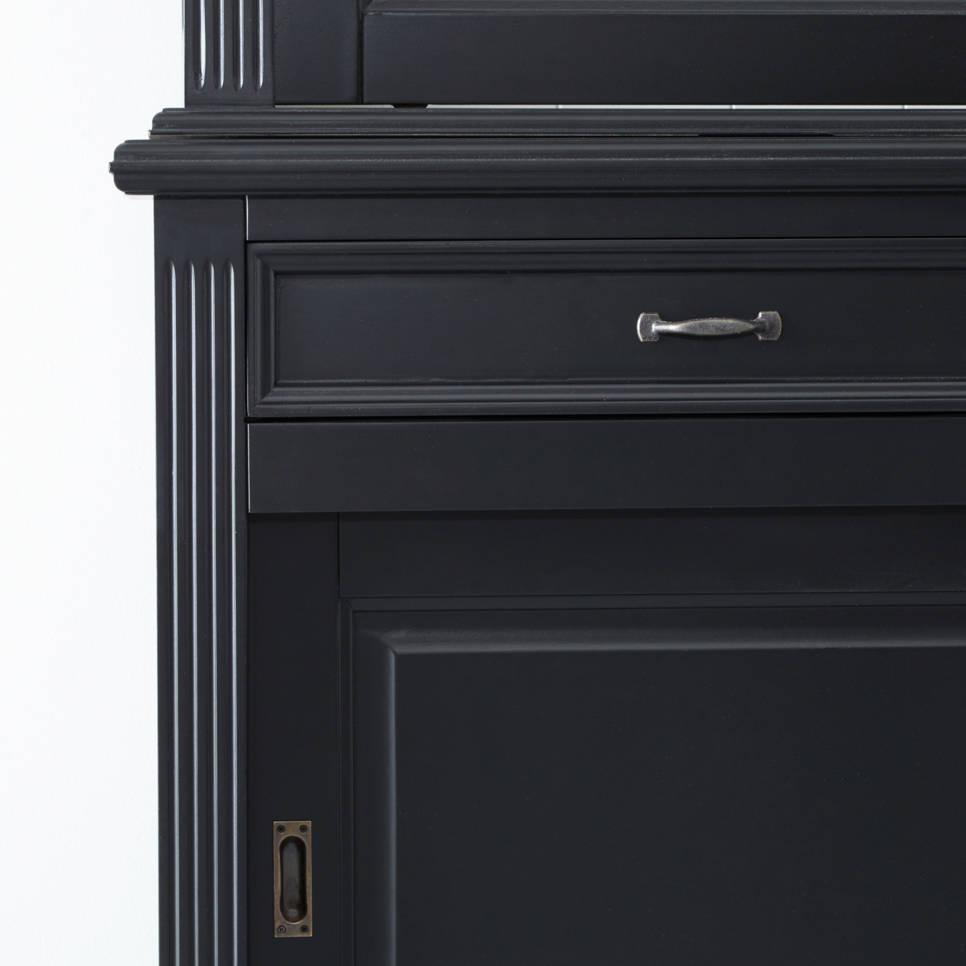 Buffetkast Provence - 220 cm - zwart/wit