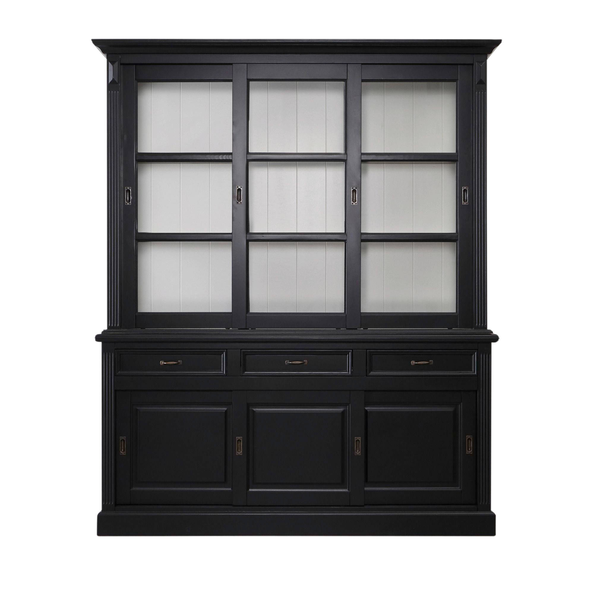 Buffetkast Provence - 180 cm - zwart/wit