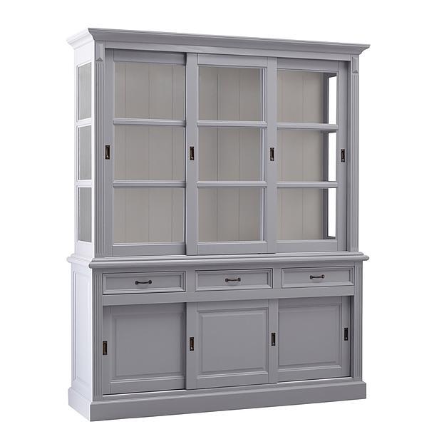 Buffetkast Provence - 180 cm - grijs/wit