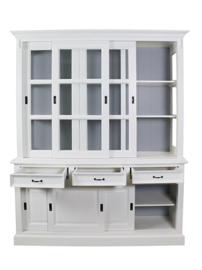 Buffetkast Provence - 180 cm - wit/grijs