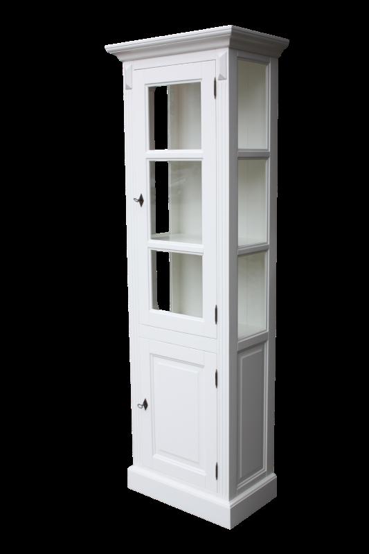 Vitrinekast Provence - deur rechts - wit