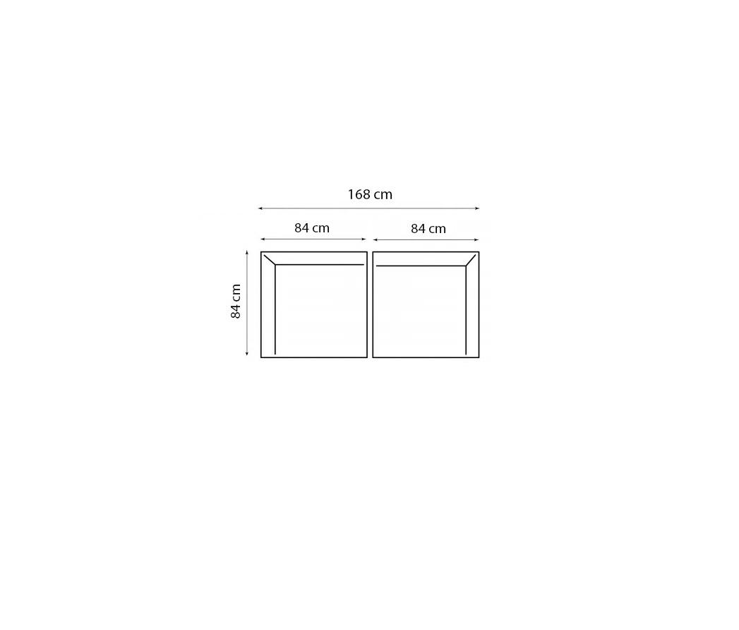 Tuin 2-zits loungeset modulair Aruba (incl. kussens) - 2-delig - Hout - Bruin