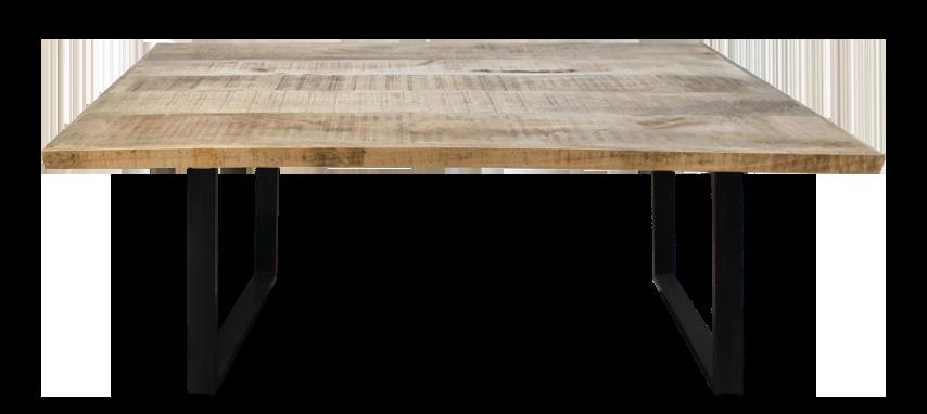 Rechthoekige eettafel - 220x100x76 - Naturel - Mangohout/metaal