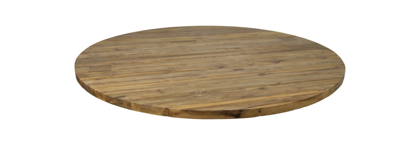 Tafelblad rond - ø120x4 - Naturel - Massief teakhout