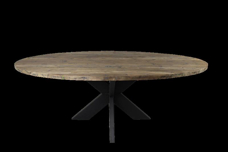 Tafelblad ovaal - 260x120 cm - new vintage - teak
