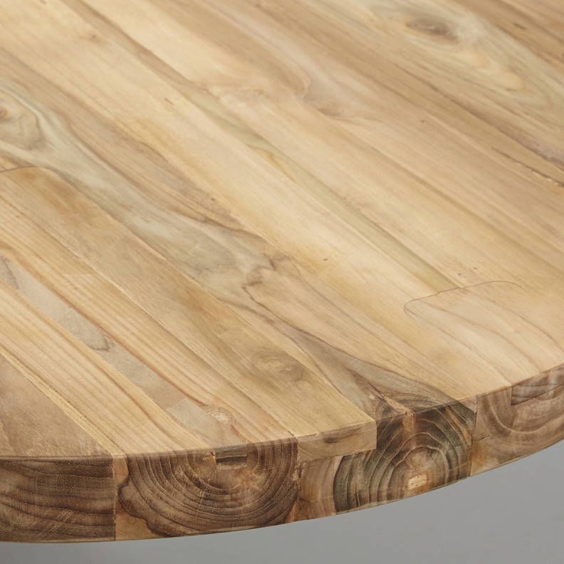 Tafelblad ovaal - 260x120 cm - blank - teak