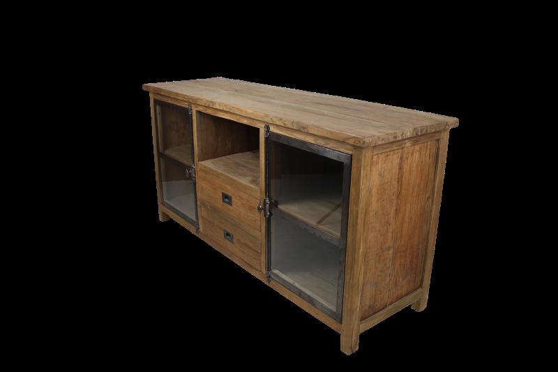 TV-meubel Hunter - reclaimed teak/ijzer