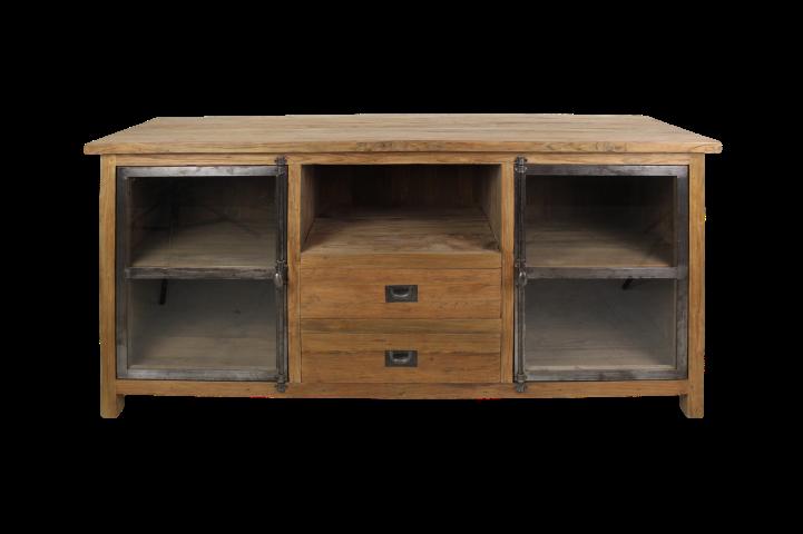 TV meubel Hunter - reclaimed teak/ijzer