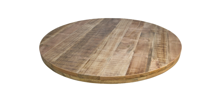 Ronde Houten Tafelbladen.Rond Tafelblad O130 Cm Mangohout Ronde Tafelbladen
