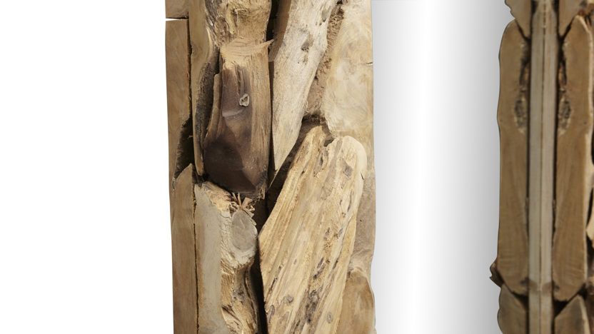Wandspiegel Root - 160x100 cm - teak wortelhout