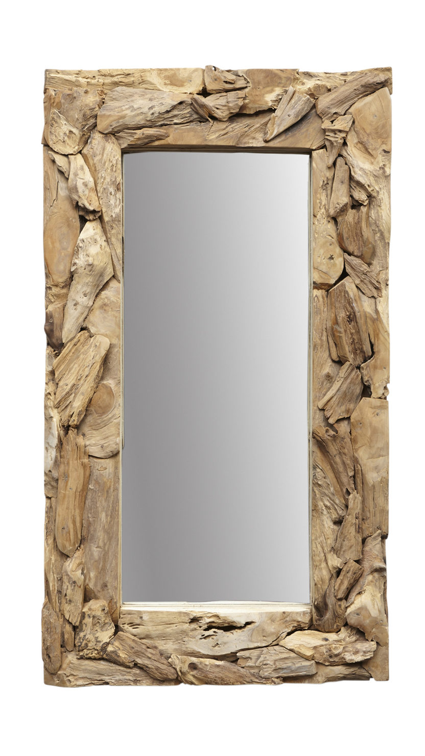 Wandspiegel Root - 160x90 cm - teak wortelhout